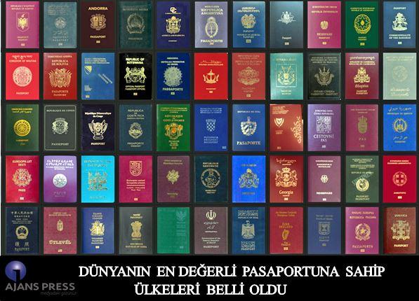 Dünyanın En Değerli Pasaportlarına Sahip Ülkeleri Belli Oldu