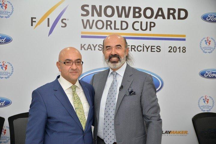 Erciyeş A.Ş Yönetim Kurulu Başkanı Dr. Murat Cahid Cıngı - Türkiye Kayak Federasyonu Başkanı Erol Yarar